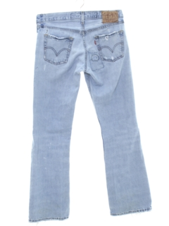 1990's Unisex Grunge Bootcut Flared Leg Denim Jeans Pants