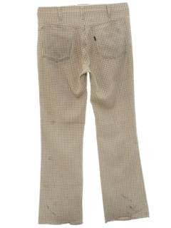 1970's Mens Grunge BIG E Levis Bellbottom Jeans-cut Pants