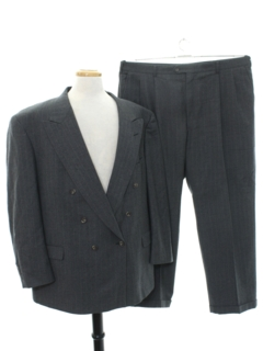 1980's Mens Totally 80s Swing Style Tuxedo Suit