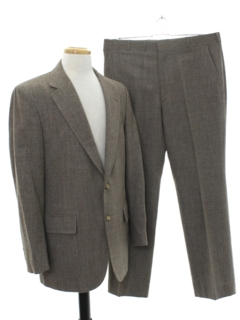 1960's Mens Mod Wool Suit