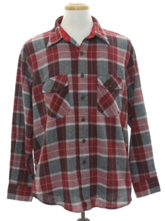 1990's Mens Grunge Wool Blend Flannel Shirt
