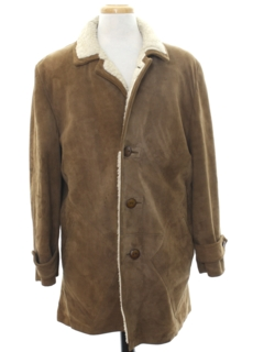 1960's Mens Suede Leather Car Coat Jacket