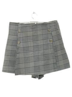1980's Womens Totally 80s Skort Skirt Shorts