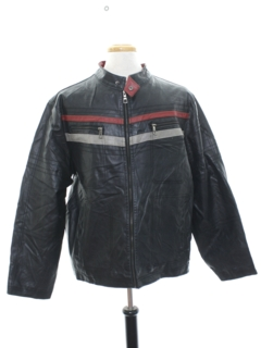 1990's Mens Mod Cafe Racer Leather Jacket