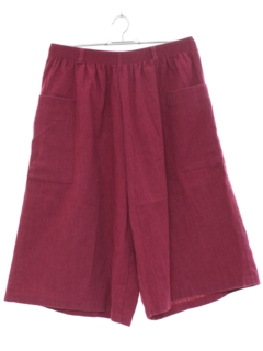 1980's Womens Totally 80s High Waisted Culottes Shorts