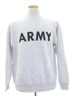1980's Unisex Army Military Sweatshirt