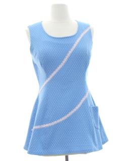1970's Womens Mod Knit Micro Mini Dress