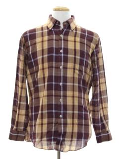 1980's Mens Preppy Shirt