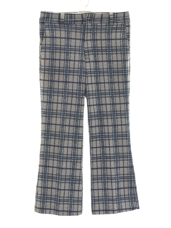 1970's Mens Plaid Bellbottom Leisure Style Pants