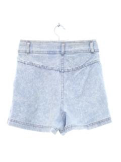 1980's Womens Totally 80s High Waisted Acid Wash Shorts