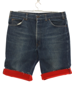 1970's Mens Lined Denim Cutoff Shorts