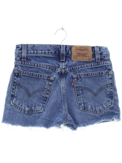 1990's Womens/Girls Distressed Denim Cutoff Shorts