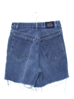 1980's Womens High Waisted Denim Cutoff Mom Shorts