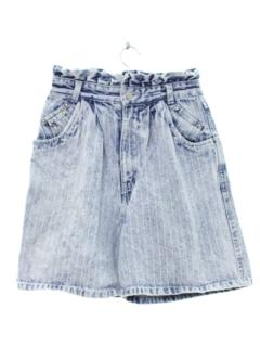 1980's Womens Totally 80s High Waisted Denim Acid Wash Shorts