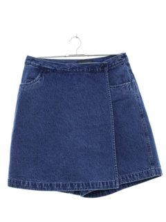 1990's Womens Denim Skort Skirt Shorts