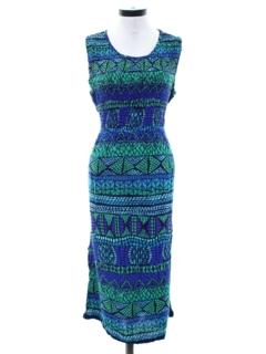 1990's Womens A-Line Maxi Sun Dress