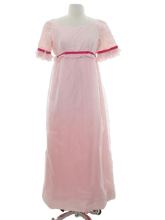 1960's Womens Emma Domb Prairie Inspired Designer Prom or Cocktail Maxi Dress