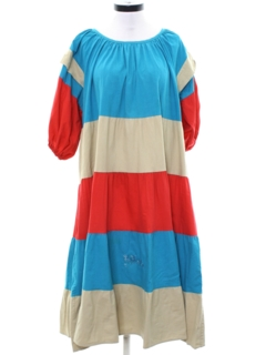 1970's Womens Muu Muu Style Hippie Dress