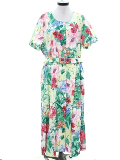 1990's Womens Floral Summer Dress