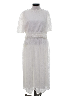 1980's Womens Casual Wedding Dress