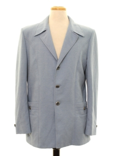 1970's Mens Leisure Style Disco Blazer Style Sport Coat Jacket
