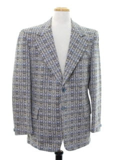 1970's Mens Plaid Disco Blazer Style Sport Coat Jacket