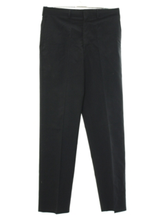 1980's Mens Navy Issue Flat Front Wool Blend Slacks Pants