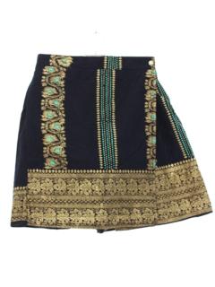 1990's Womens Hippie Style Wrap Skort Skirt Style Shorts