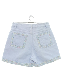 1980's Womens Totally 80s Style High Waisted Denim Shorts