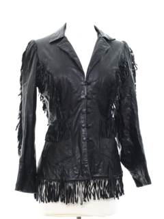 1970's Womens Hippie Leather Fringe Jacket