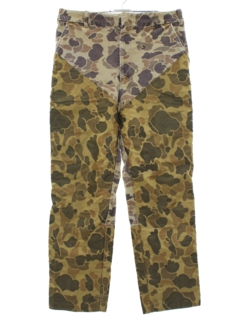 1990's Unisex Grunge Camouflage Hunting Pants
