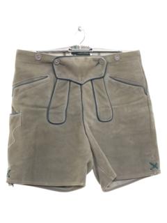 1980's Unisex Suede Leather Lederhosen Oktoberfest Shorts