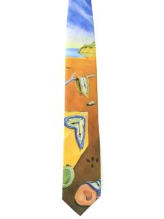 1990's Mens Collectible Wide Salvador Dali Necktie