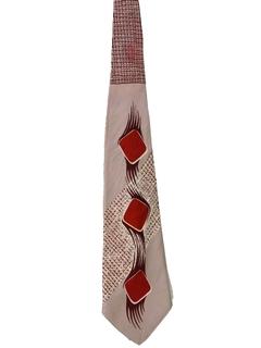 1940's Mens Wide Swing Necktie