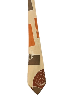 1940's Mens Abstract Geometric Wide Swing Necktie
