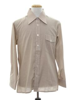 1970's Mens Mod Solid Sport Shirt