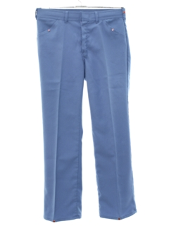 1970's Mens Polyester Flared Jeans Cut Pants