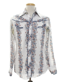 1980's Mens Rodeo Style Western Hippie Shirt