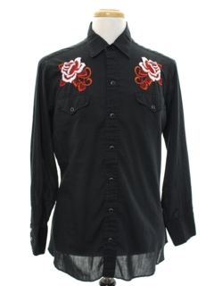 1980's Mens Western Hippie Shirt
