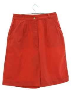 1990's Womens High Waisted Pleated Shorts