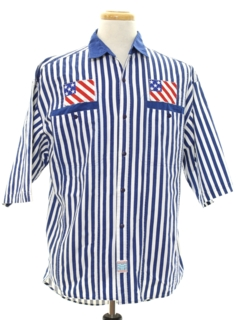 1980's Mens Totally 80s Patriotic Sport Shirt