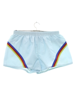 1980's Mens Totally 80s Rainbow Sport Short Shorts