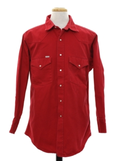 1990's Mens Western Work Shirt