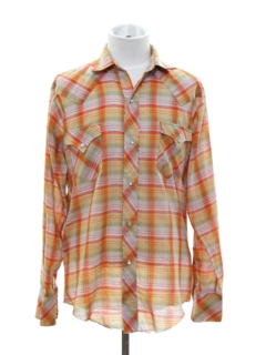 1980's Mens/Boys Western Shirt