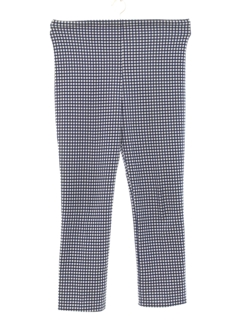 1970's Womens Plaid Knit Leisure Style Pants