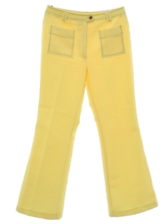 1970's Womens Mod Knit Bellbottom Style Flared Pants