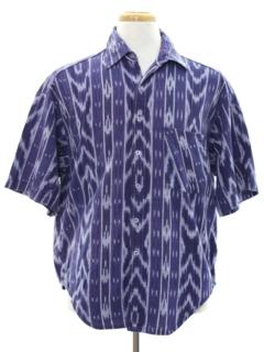 1980's Mens Guatamalen Style Hippie Shirt