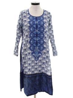 1970's Womens Hippie Style Salwar Kameez Overdress