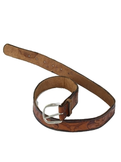 1980's Mens Accessories -Leather Western Belt