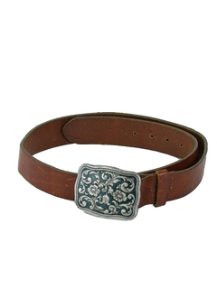 1970's Mens Accessories - Leather Hippie Style Belt